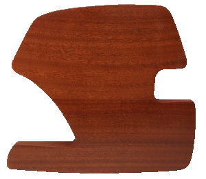 Mahogany Wood Side Panels